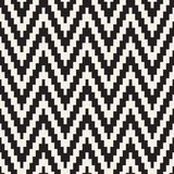 Halftone Edgy Lines Mosaic Endless Stylish Texture. Vector Seamless Black and White Pattern Royalty Free Stock Photos