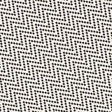 Halftone Edgy Lines Mosaic Endless Stylish Texture. Vector Seamless Black and White Pattern Stock Image