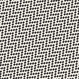 Halftone Edgy Lines Mosaic Endless Stylish Texture. Vector Seamless Pattern Royalty Free Stock Images