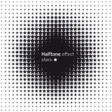 Halftone effect of the stars. Abstract background Royalty Free Stock Photography