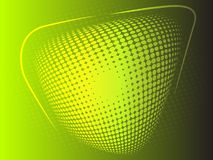 Halftone effect yellow and green abstract background Royalty Free Stock Image