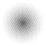 Halftone element. Abstract geometric graphic with half-tone pattern vector illustration