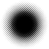 Halftone element, circular halftone pattern. Specks, halftone ci. Rcle gradient  - Royalty free  illustration Stock Image