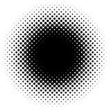 Halftone element, circular halftone pattern. Specks, halftone ci. Rcle gradient  - Royalty free  illustration Stock Images