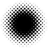 Halftone element, circular halftone pattern. Specks, halftone ci. Rcle gradient  - Royalty free  illustration Stock Photo