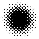 Halftone element, circular halftone pattern. Specks, halftone ci. Rcle gradient  - Royalty free  illustration Royalty Free Stock Photo