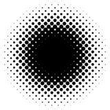 Halftone element, circular halftone pattern. Specks, halftone ci. Rcle gradient  - Royalty free  illustration Royalty Free Stock Photography