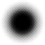 Halftone element, circular halftone pattern. Specks, halftone ci. Rcle gradient  - Royalty free  illustration Stock Photos
