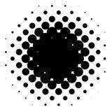 Halftone element, circular halftone pattern. Specks, halftone ci. Rcle gradient  - Royalty free  illustration Royalty Free Stock Image