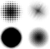 Halftone elements VECTOR. Black and white Stock Photos