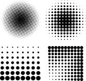 Halftone elements VECTOR. Black and white Stock Photography
