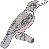Halftone exotische vogel Stock Foto