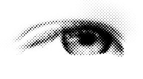 Halftone eye Stock Photography
