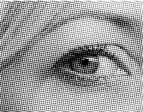 Halftone eye Royalty Free Stock Photography