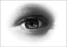Halftone eye / vector Royalty Free Stock Photos