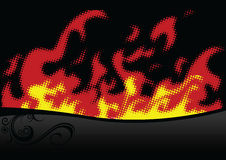 Halftone fire. Vector illustration for your design and more Stock Photo