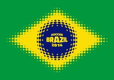 Halftone Flag of Brazil. Vector illustration for your design Royalty Free Stock Image
