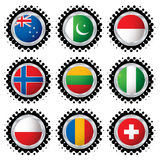Halftone flag buttons 3 Stock Image