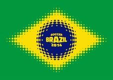 Halftone flaga Brazylia Obraz Royalty Free