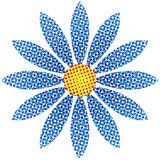 Halftone Flower Stock Photo
