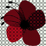 Halftone flower Royalty Free Stock Images