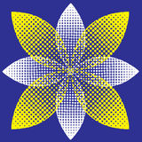 Halftone flower Royalty Free Stock Photo