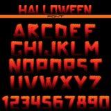 Halftone Font Stock Image