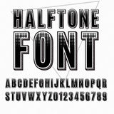 Halftone font Stock Photos