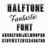 Halftone font Stock Photo