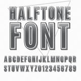 Halftone font Stock Images