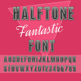 Halftone font Royalty Free Stock Image