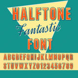 Halftone font Royalty Free Stock Photography