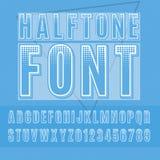 Halftone font Royalty Free Stock Photos