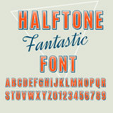 Halftone font Stock Photo