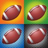 Halftone footballs Stock Photography