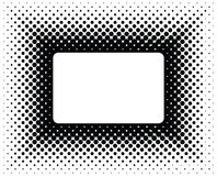 Halftone frame. The frame executed in technics of a halftone royalty free illustration