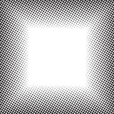 Halftone frame. Abstract black and white background, halftone pattern texture, square banner Stock Image