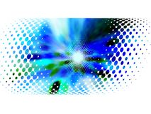 Halftone frame, vector motion blur Stock Image