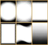 Halftone Frames Royalty Free Stock Image