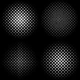 Halftone Frames A set of 4 halftone frame patterns Royalty Free Stock Photo