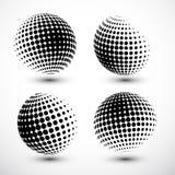 Halftone gebieden Halftone ontwerpelement Abstracte Bol Logo Template Vector illustratie vector illustratie
