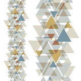 Halftone geometric colorful triangles on white background. Royalty Free Stock Photo