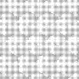 Halftone geometric seamless abstract background. Vector illustration Royalty Free Stock Photos