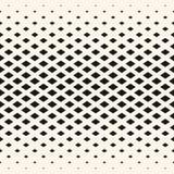 Halftone geometrisch patroon, diamantvormen, kristallen, ruiten Stock Foto