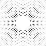 Halftone gestippelde achtergrond Halftone effect vectorpatroon Cirkelpunten op de witte achtergrond worden geïsoleerd die royalty-vrije illustratie