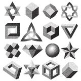 Halftone gestippelde gestippelde geometrische cijfer dotwork stileert verschillende het stippelen van de de oneindigheidstorus va Royalty-vrije Stock Afbeelding
