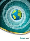 Halftone globe brochure design Stock Images