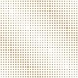 Halftone gold square geometric gradient pattern Royalty Free Stock Photos