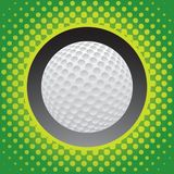 Halftone golf ball icon. Golf ball with a green halftone background Royalty Free Stock Image