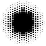 Halftone grafiek met vierkanten, monochromatisch abstract element vector illustratie